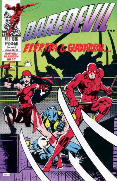 Cover for Daredevil (Semic, 1986 series) #5/1986