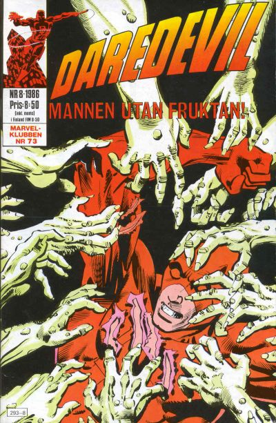 Cover for Daredevil (Semic, 1986 series) #8/1986