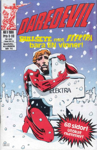 Cover for Daredevil (Semic, 1986 series) #9/1986