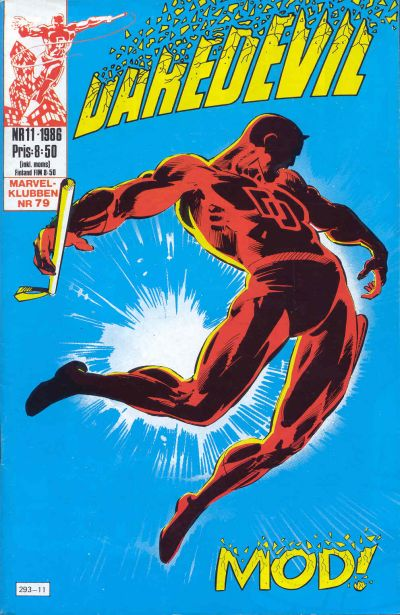 Cover for Daredevil (Semic, 1986 series) #11/1986