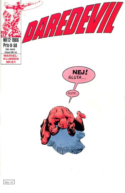 Cover for Daredevil (Semic, 1986 series) #12/1986