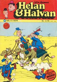 Cover Thumbnail for Helan og Halvan (Illustrerte Klassikere / Williams Forlag, 1963 series) #11/1974