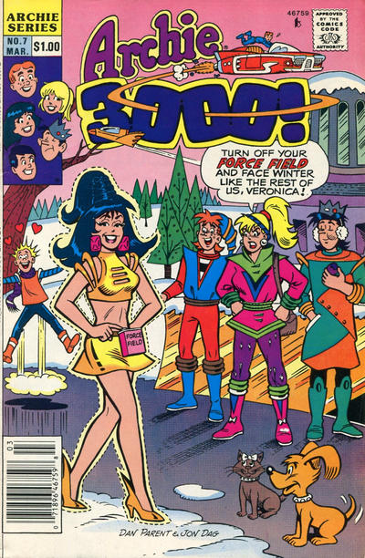 Cover for Archie 3000 (Archie, 1989 series) #7 [Direct]