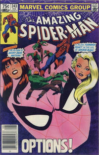 Cover for The Amazing Spider-Man (Marvel, 1963 series) #243 [Direct Edition]
