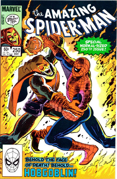 Cover for The Amazing Spider-Man (Marvel, 1963 series) #250 [Direct Edition]