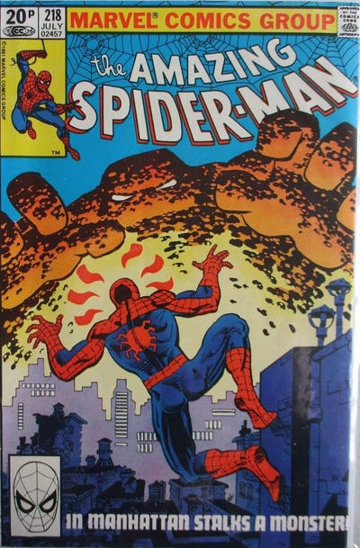 Cover for The Amazing Spider-Man (Marvel, 1963 series) #218 [Direct Edition]