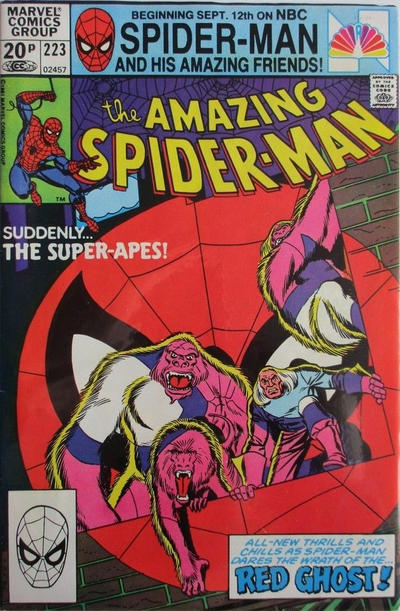Cover for The Amazing Spider-Man (Marvel, 1963 series) #223 [Direct Edition]