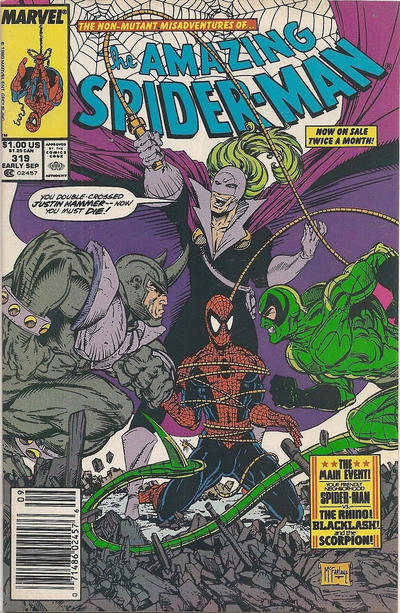 Cover for The Amazing Spider-Man (Marvel, 1963 series) #319 [Direct Edition]
