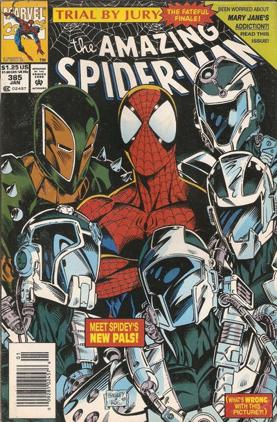 Cover for The Amazing Spider-Man (Marvel, 1963 series) #385 [Direct Edition]