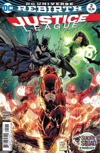 Cover Thumbnail for Justice League (DC, 2016 series) #2 [Tony S. Daniel Cover Variant]