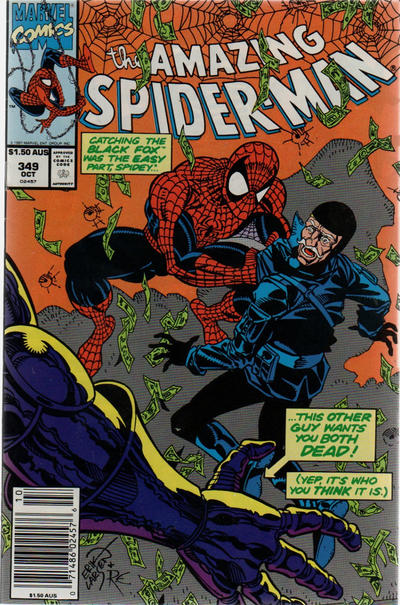 Cover for The Amazing Spider-Man (Marvel, 1963 series) #349 [Australian]