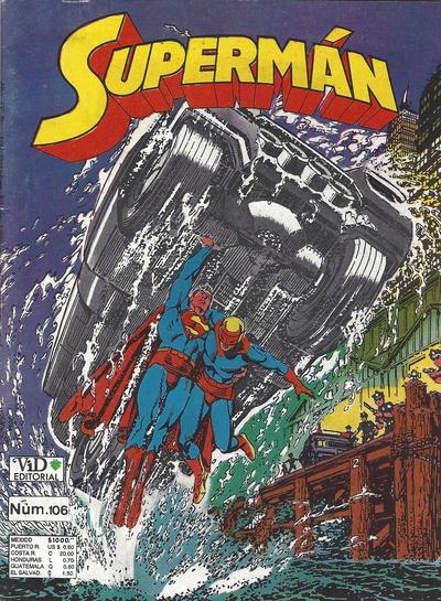 Cover for Supermán (Grupo Editorial Vid, 1986 series) #106