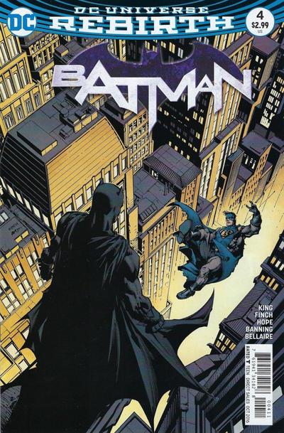 Cover for Batman (DC, 2016 series) #4 [Tim Sale Cover]
