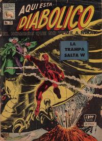 Cover Thumbnail for Diabólico (Editora de Periódicos La Prensa S.C.L., 1966 series) #21