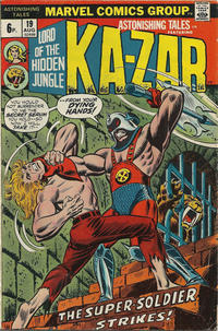 Cover Thumbnail for Astonishing Tales (Marvel, 1970 series) #19 [British]