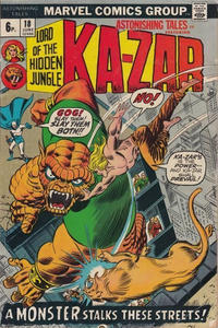 Cover Thumbnail for Astonishing Tales (Marvel, 1970 series) #18 [British]