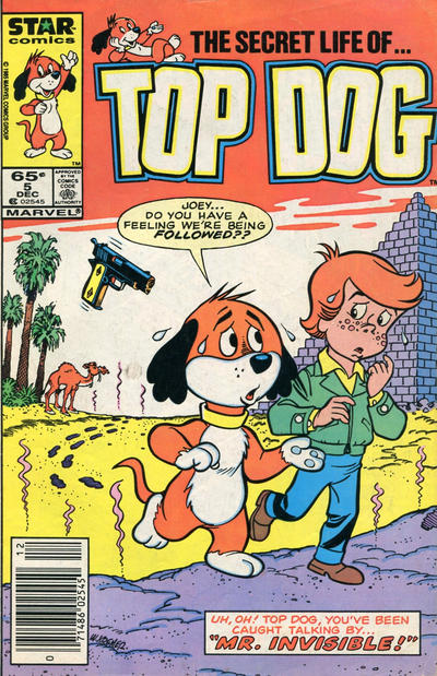 Cover for Top Dog (Marvel, 1985 series) #5 [Direct]