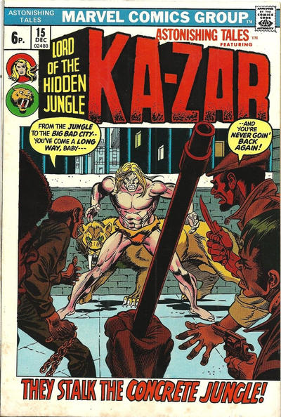 Cover for Astonishing Tales (Marvel, 1970 series) #15 [Regular Edition]