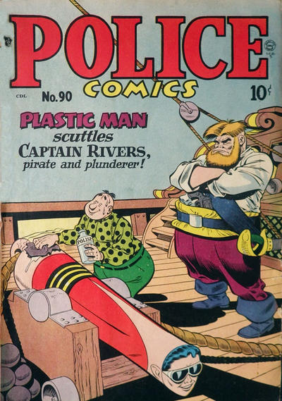 Cover for Police Comics (Alval Publishers, 1949 series) #90