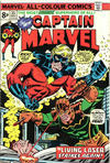 Cover for Captain Marvel (Marvel, 1968 series) #35 [British Price Variant]