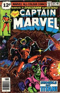 Cover for Captain Marvel (Marvel, 1968 series) #59 [Regular Edition]