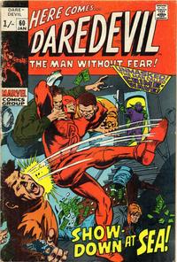 Cover Thumbnail for Daredevil (Marvel, 1964 series) #60 [British]
