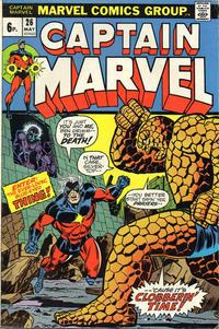 Cover for Captain Marvel (Marvel, 1968 series) #26 [Regular Edition]