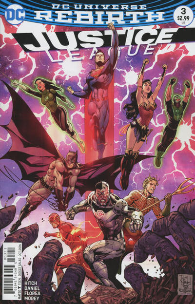 Cover for Justice League (DC, 2016 series) #3 [Yanick Paquette Connecting Cover B Variant]