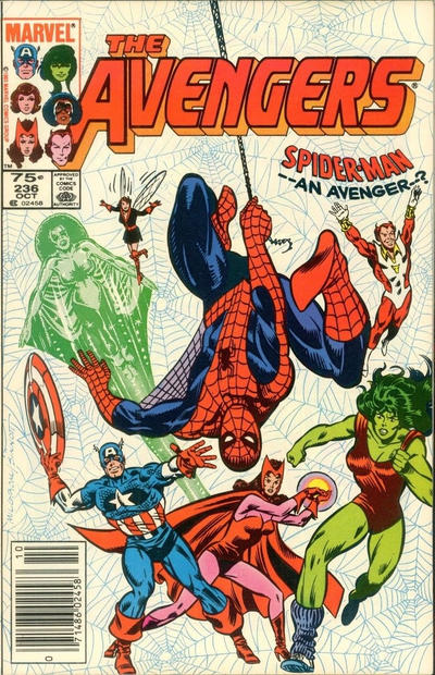 Cover for The Avengers (Marvel, 1963 series) #236 [Direct Edition]
