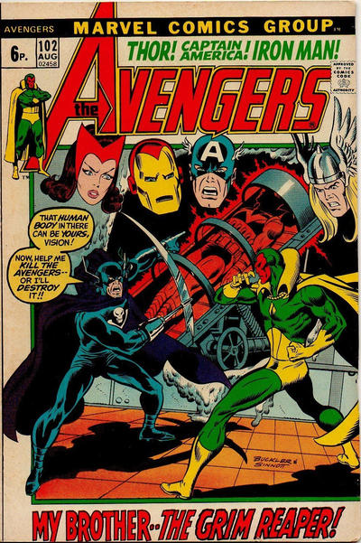 Cover for The Avengers (Marvel, 1963 series) #102 [Regular Edition]