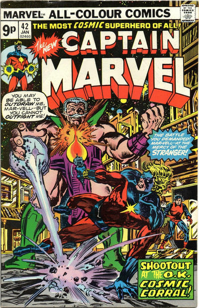 Cover for Captain Marvel (Marvel, 1968 series) #42 [Regular Edition]