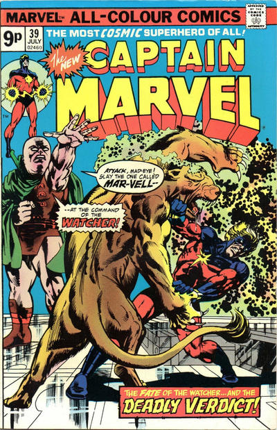 Cover for Captain Marvel (Marvel, 1968 series) #39 [Regular Edition]