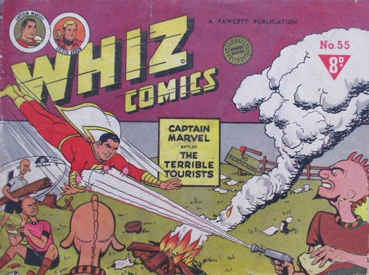 Cover for Whiz Comics (Cleland, 1946 series) #55