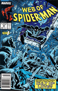 Cover Thumbnail for Web of Spider-Man (Marvel, 1985 series) #40 [Newsstand Edition]