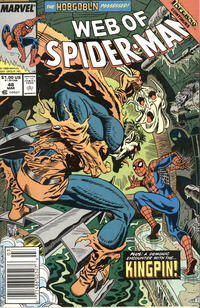 Cover Thumbnail for Web of Spider-Man (Marvel, 1985 series) #48 [Newsstand Edition]
