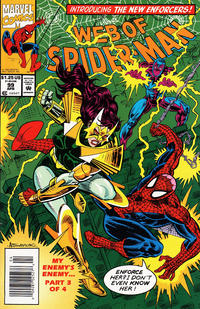 Cover for Web of Spider-Man (Marvel, 1985 series) #99 [Direct Edition]