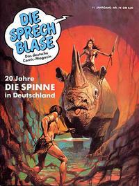 Cover Thumbnail for Die Sprechblase (Norbert Hethke Verlag, 1978 series) #78