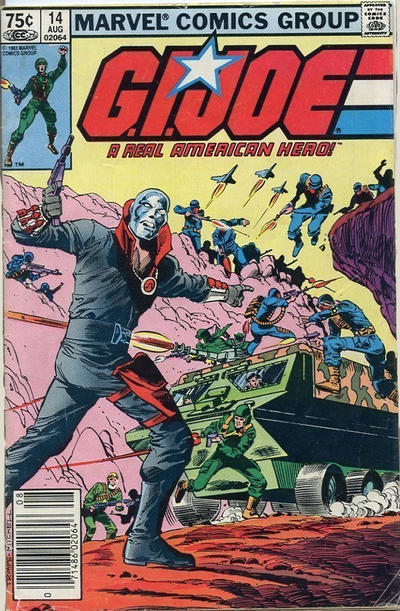 Cover for G.I. Joe, A Real American Hero (Marvel, 1982 series) #14 [Second Print]