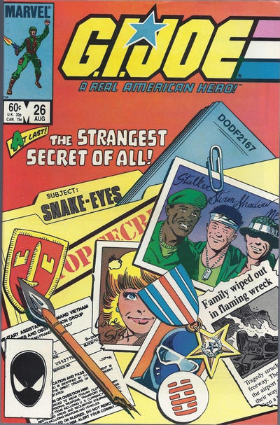 Cover for G.I. Joe, A Real American Hero (Marvel, 1982 series) #26 [Newsstand Edition]