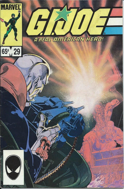 Cover for G.I. Joe, A Real American Hero (Marvel, 1982 series) #29 [Newsstand Edition]