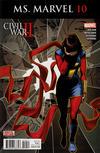 Cover for Ms. Marvel (Marvel, 2016 series) #10
