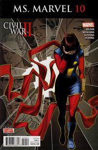 Cover Thumbnail for Ms. Marvel (Marvel, 2016 series) #10
