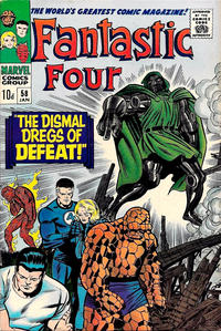 Cover Thumbnail for Fantastic Four (Marvel, 1961 series) #58 [British]