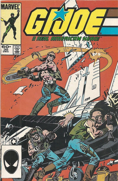 Cover for G.I. Joe, A Real American Hero (Marvel, 1982 series) #30 [Direct Edition]