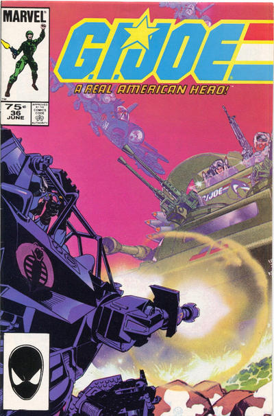Cover for G.I. Joe, A Real American Hero (Marvel, 1982 series) #36 [Direct Edition]