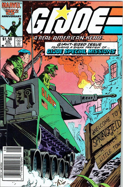 Cover for G.I. Joe, A Real American Hero (Marvel, 1982 series) #50 [Newsstand Edition]