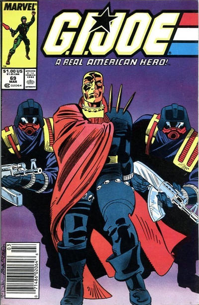 Cover for G.I. Joe, A Real American Hero (Marvel, 1982 series) #69 [Direct Edition]