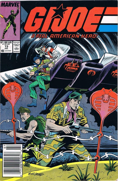 Cover for G.I. Joe, A Real American Hero (Marvel, 1982 series) #73 [Direct Edition]