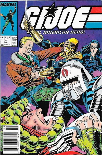Cover for G.I. Joe, A Real American Hero (Marvel, 1982 series) #74 [Direct Edition]