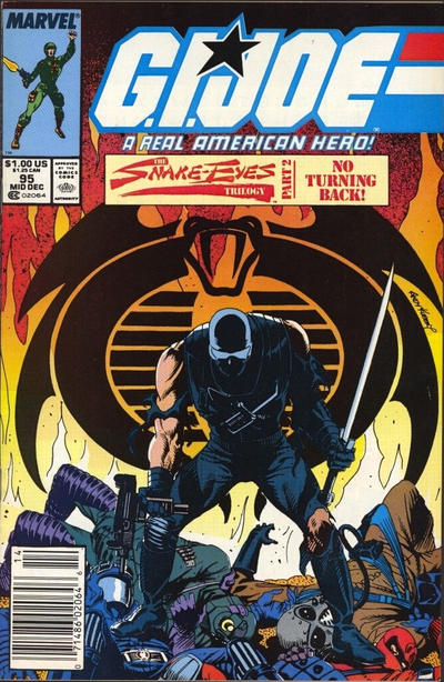 Cover for G.I. Joe, A Real American Hero (Marvel, 1982 series) #95 [Direct Edition]